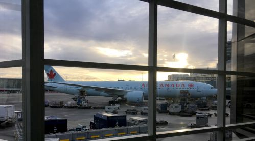 Plane at Vancouver Airport.  Airport Transport by Paxton Shuttle